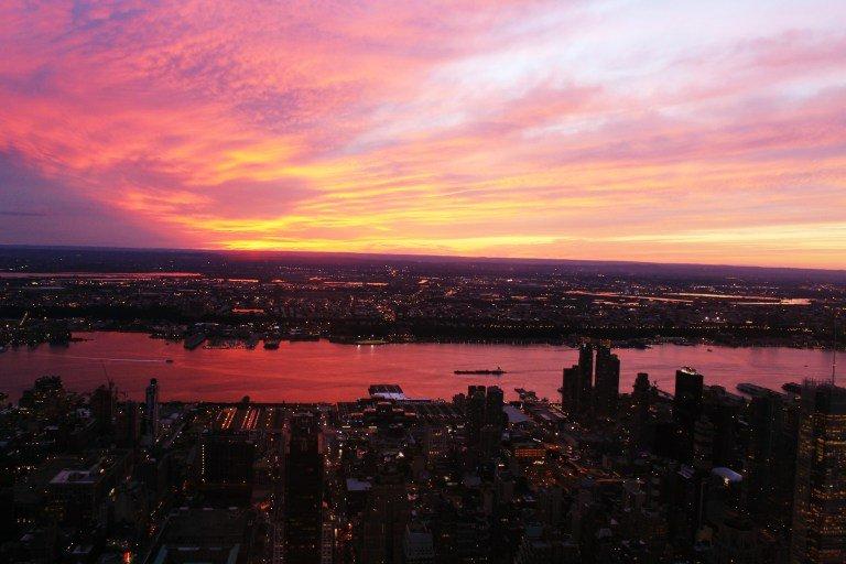 La mejor hora para subir al Empire State es al atardecer