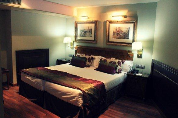 Nuestra cama en el Hotel Plaza