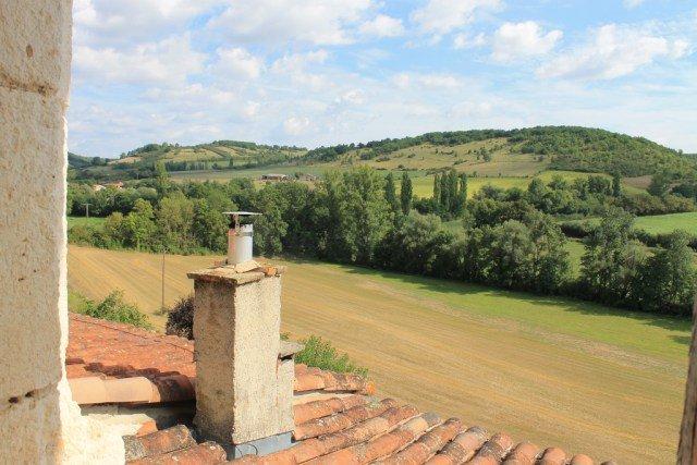 Vista desde mi habitación en el Aurifat - Alojarse en Cordes-sur-Ciel