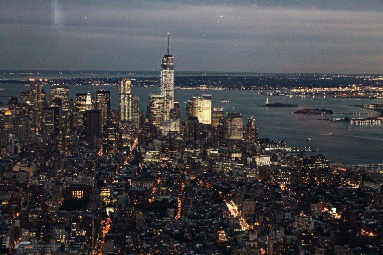 Vistas de Nueva York de noche desde el Empire