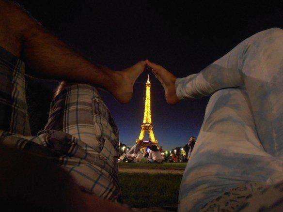 A los pies de la Torre Eiffel