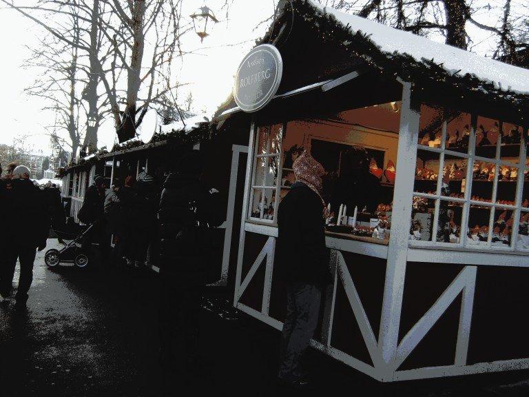 Puestos del mercado navideño de Liseberg