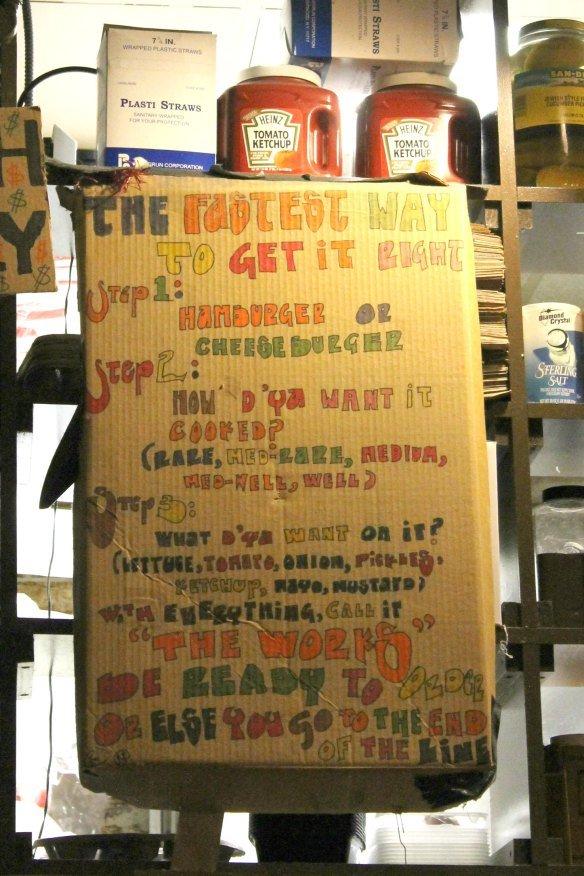 Instrucciones para pedir la hamburguesa