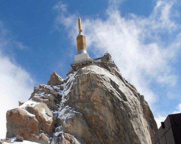La Aguja del Mediodía en el Mont Blanc