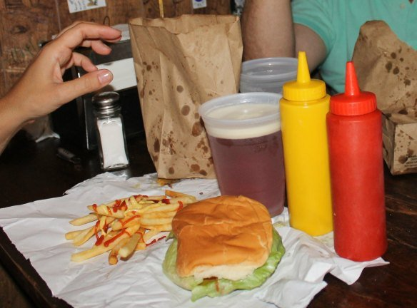 Menú de hamburguesa de Burger Joint