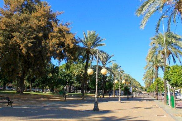 Paseo de la Victoria en Córdoba