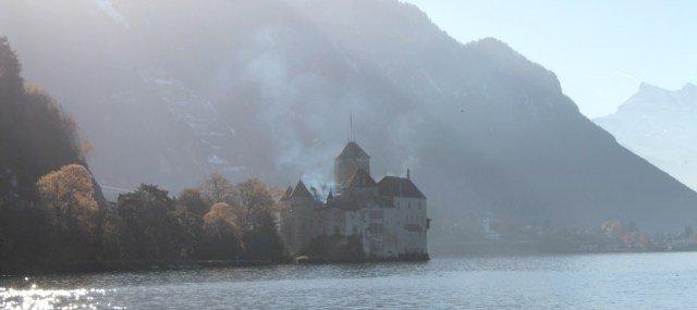Castillo de Chillon en Navidad