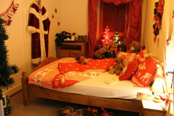Dormitorio de Papá Noel en Rochers-de-Naye