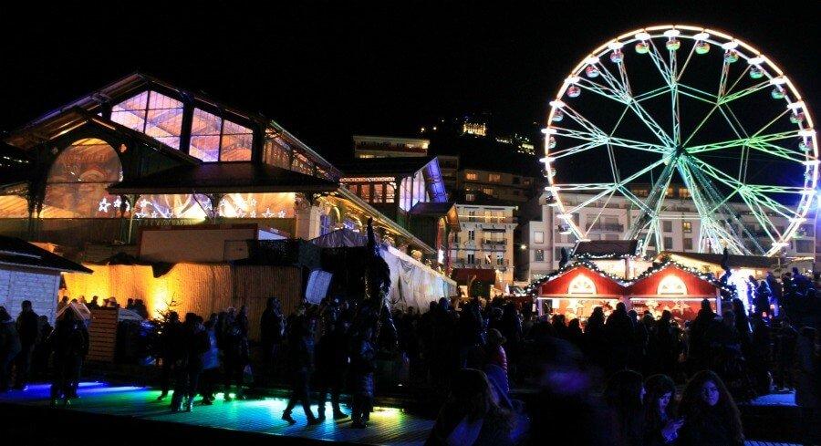 Mercado cubierto de Montreux en navidad
