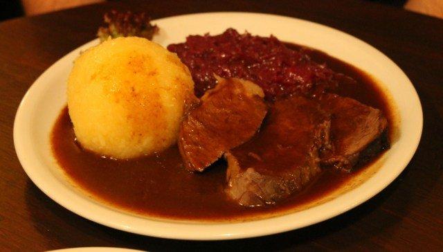 Carne con chucrut en Alemania
