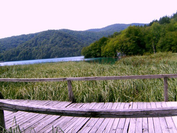 Pasarelas de madera en los Lagos de Plitvice