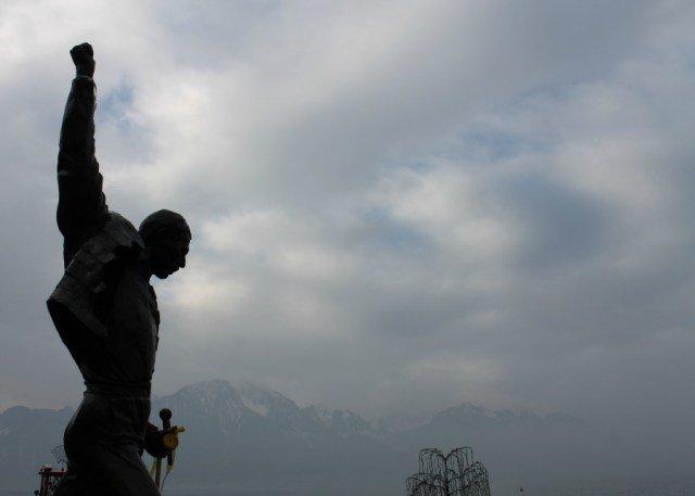 Freddie Mercury en Montreux Suiza