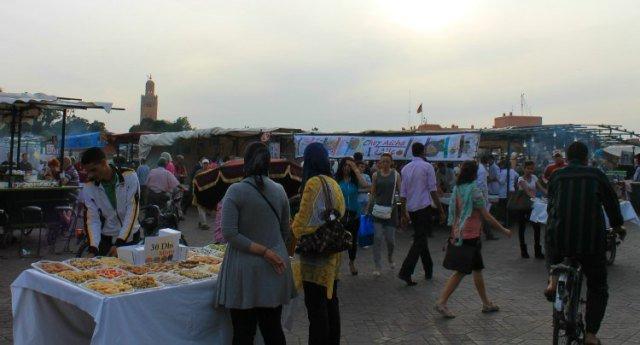 Dulces marroquíes en Marrakech