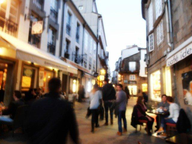 Rua do Franco en Santiago de Compostela