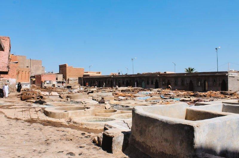 Visitar el barrio de los curtidores de Marrakech