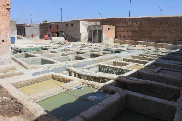 Bañeras de cal de Marrakech
