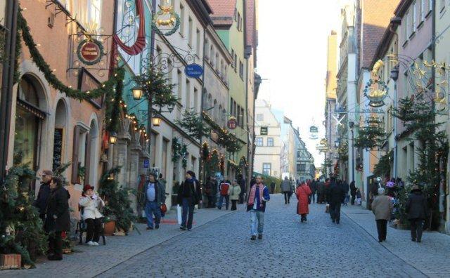 En las calles de Rothenburg ob der Tauber huele a Navidad