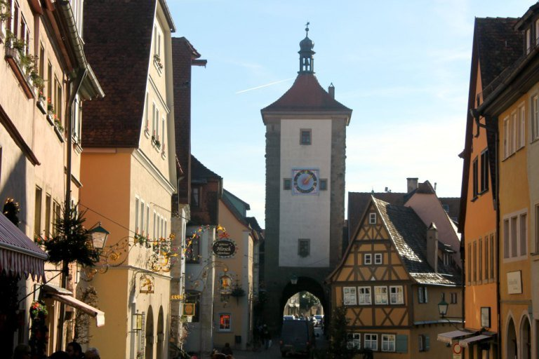 La clásica estampa de Rothenburg ob der Tauber
