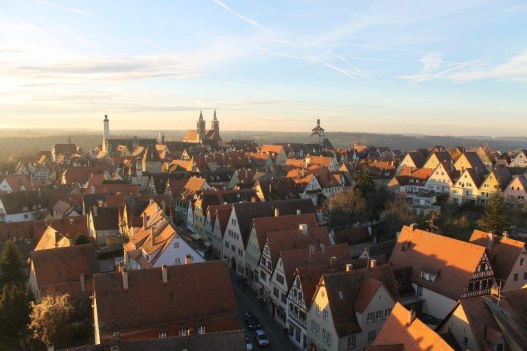 Vistas de Alemania al atardecer