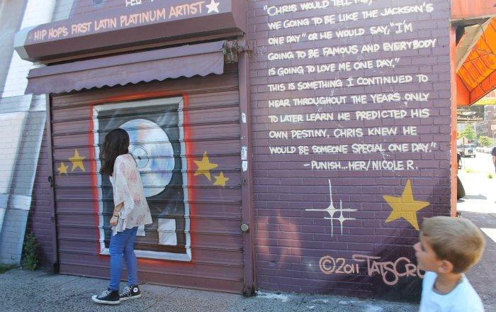 Claudia bailando hip hop en el Bronx