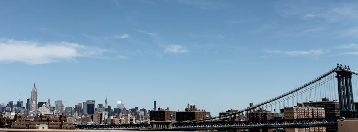 Empire State y skyline desde el Puente de Brooklyn
