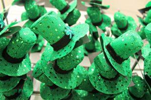 Sombreros verdes para el día de San Patricio