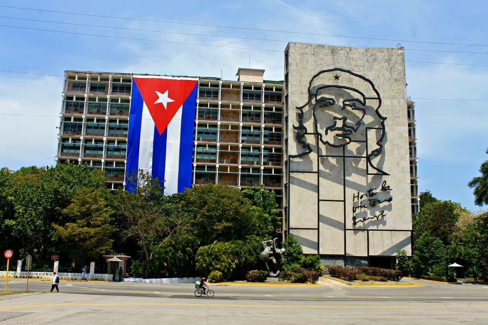 Ché Guevara en la Plaza de la Revolución de La Habana