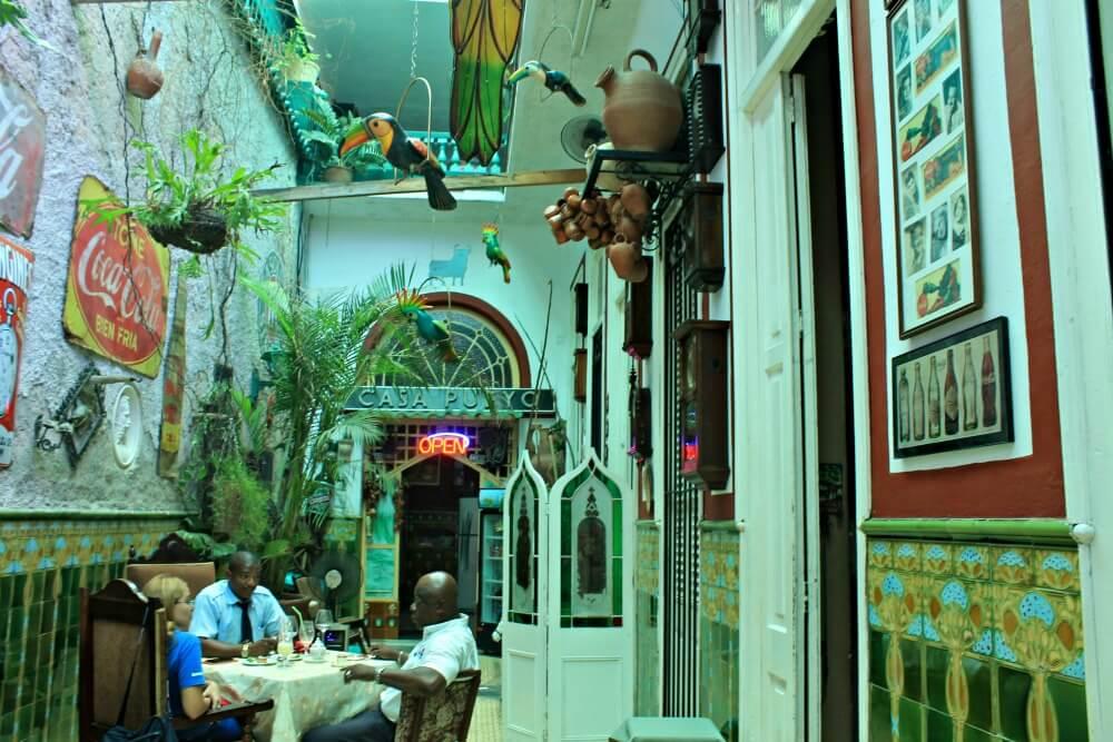 Patio del Paladar San Cristóbal de La Habana