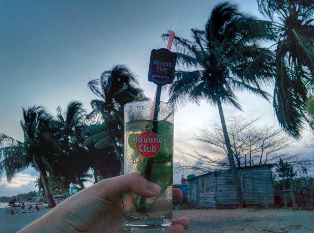 Havana Club Ron mojito en Playa Larga