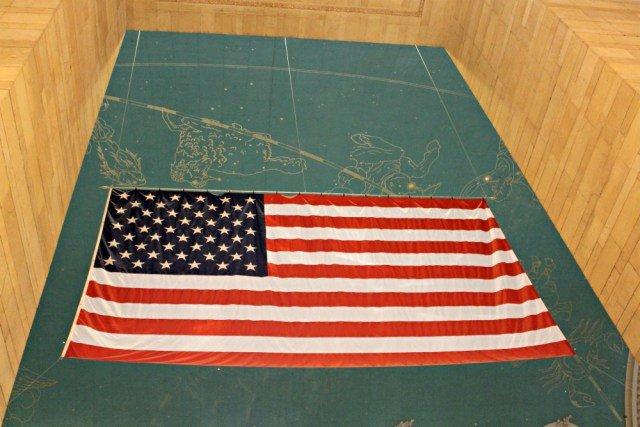 Bandera de USA en Grand Central
