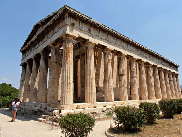 Claudia en el templo de Hefesto en Atenas
