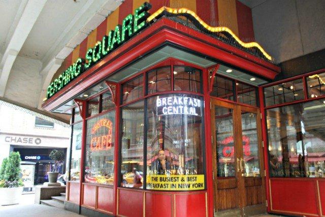 Desayunar en Nueva York en Pershing Square