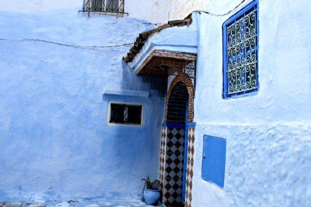 Casa de color azul en Chaouen