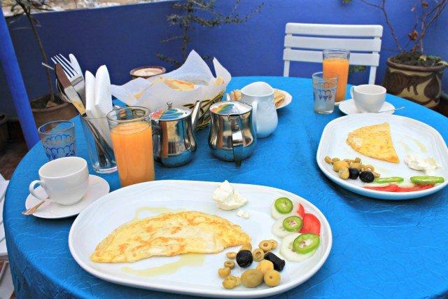 Desayuno en Dar Sababa