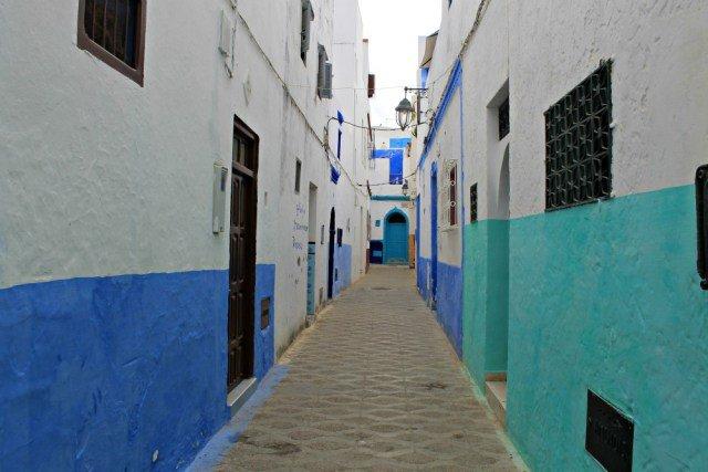 Calles rectas en la Medina de Asilah