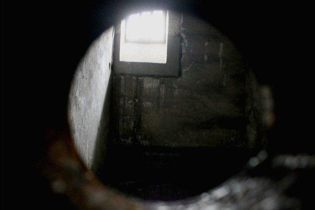 Mirilla de una celda de la cárcel de Dublín