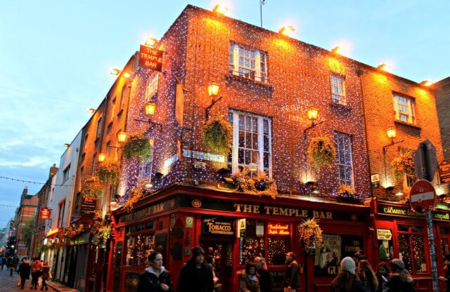 The Temple Bar al atardecer