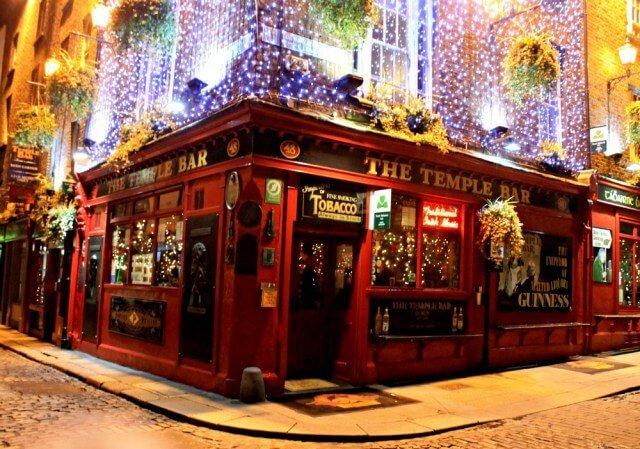 Una noche en Temple Bar en Dublín