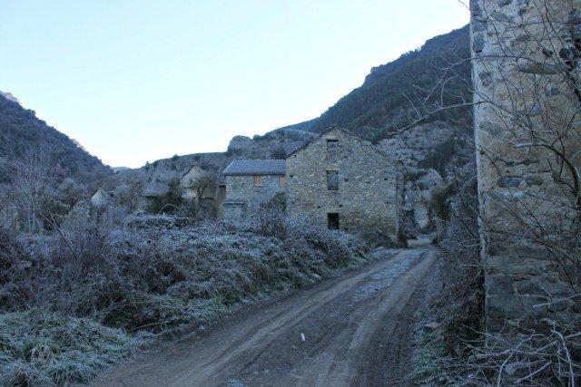 Las casas abandonadas de Jánovas en el Alto Aragón