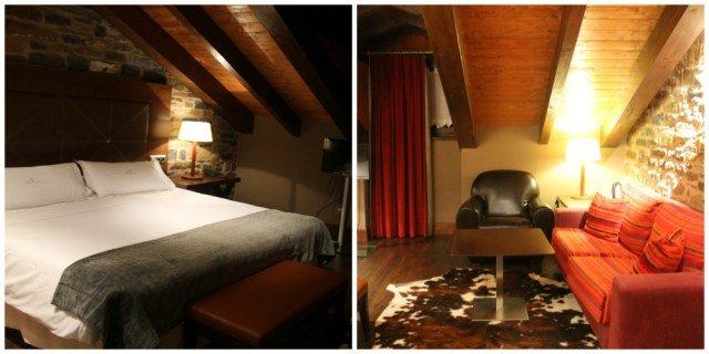 Habitación del Hotel Siete Reyes de Aínsa