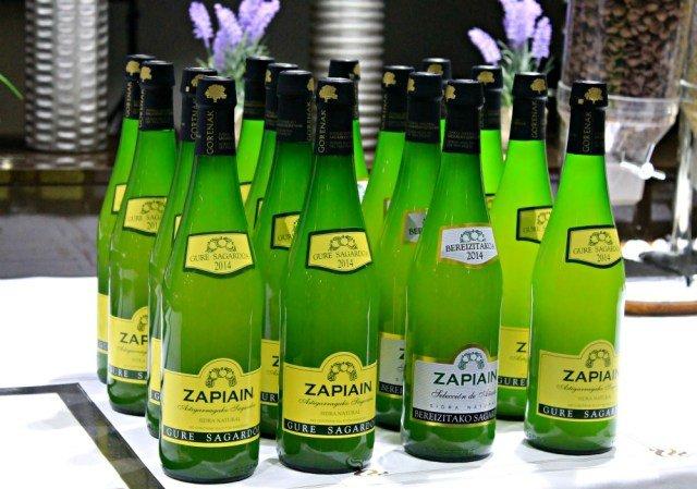 Botellas de sidra Zapiain
