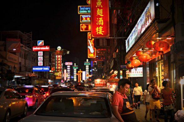 Locura y luces es Chinatown cuando cae la noche - Bangkok