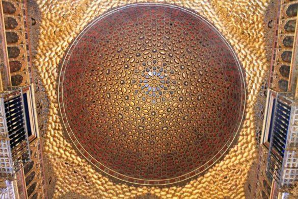 Techo del Salón de los Embajadores del Alcázar de Sevilla