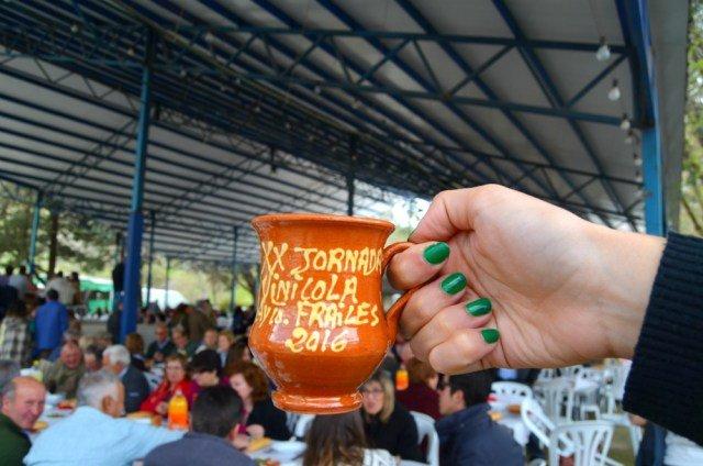 Mi jarrita de la Jornada Vinícola y Gastronómica de Frailes