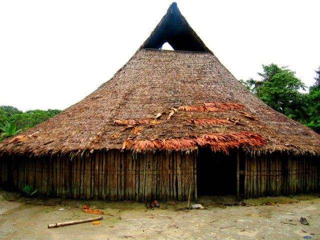Maloca huitoto, edificación típica del Amazonas