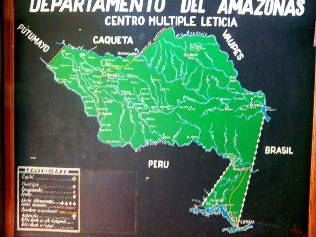 Mapa para viajar al Amazonas
