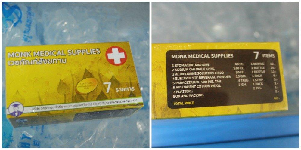 Medicamentos para monjes en Tailandia
