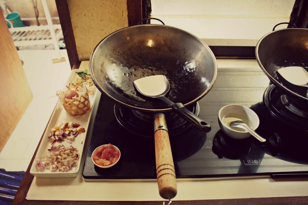 Mi cocina en el curso de comida tailandesa