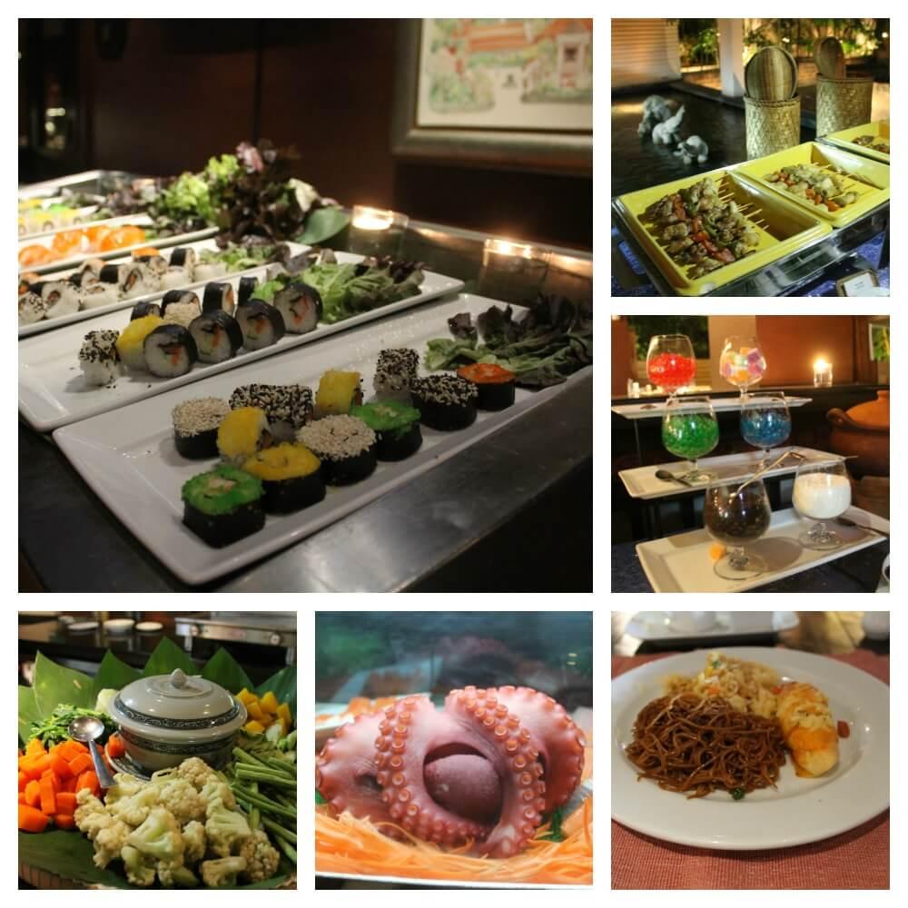 Buffet del resort Siripanna de Chiang Mai