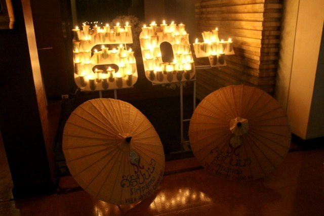 Noche de las velas en Tailandia